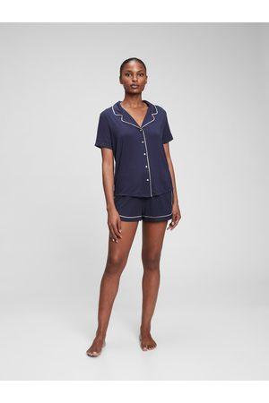 GAP Modré dámské pyžamo Krátké z modal
