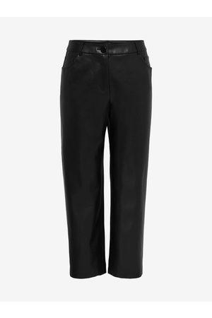 Carmakoma Ženy Kožené kalhoty - Černé koženkové kalhoty Sandy