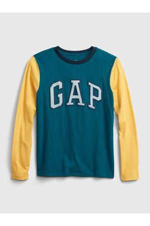 GAP Chlapci S dlouhým rukávem - Žluté klučičí tričko Logo long sleeve