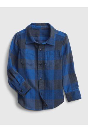 GAP Chlapci S dlouhým rukávem - Klučičí košile long sleeve flannel