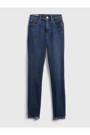 GAP Modré dámské džíny true skinny dune angled hem