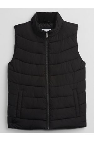 GAP Ženy Vesty - Černá dámská vesta pufferal vest