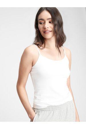 GAP Bílé dámské tílko fitted cami