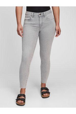 GAP Ženy Jeggings - Šedé dámské džíny universal jegging middle rise gray aline