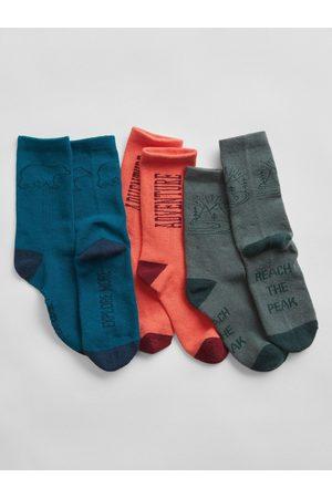 GAP Barevné klučičí vysoké ponožky, 3ks