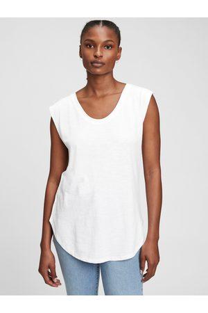 GAP Bílé dámské tričko short sleeve tunic