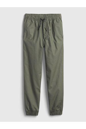 GAP Zelené klučičí kalhoty everyday joggers