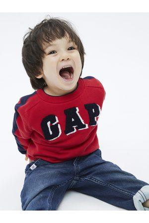 GAP Červený klučičí svetr logo