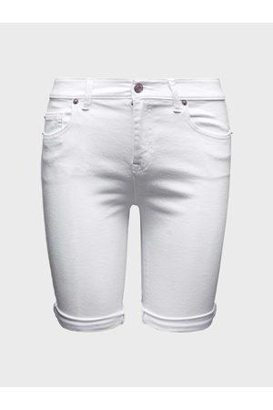 GAP Bílé dámské kraťasy Džínové bermuda optic white