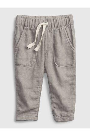 GAP Stříbrné klučičí kraťasy pull-on linen pants