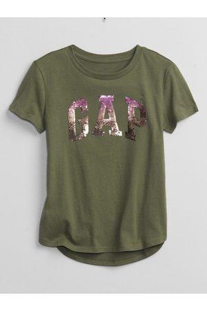 GAP Zelené holčičí tričko Logo better arch t-shirt
