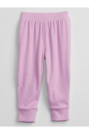 GAP Růžové holčičí tepláky pull-on jogger