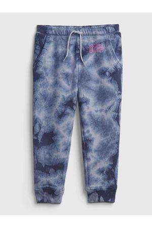GAP Modré holčičí tepláky Logo tie-dye joggers