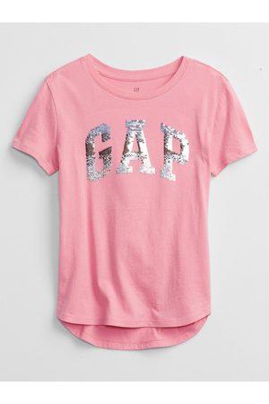 GAP Růžové holčičí tričko Logo better arch t-shirt
