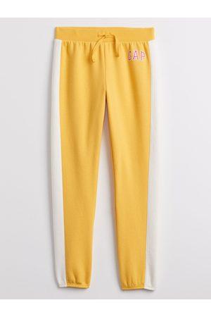 GAP Žluté holčičí tepláky Logo joggers