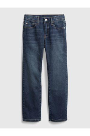 GAP Modré klučičí džíny straight jeans with Washwell