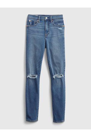 GAP Modré dámské džíny true skinny med heller dest