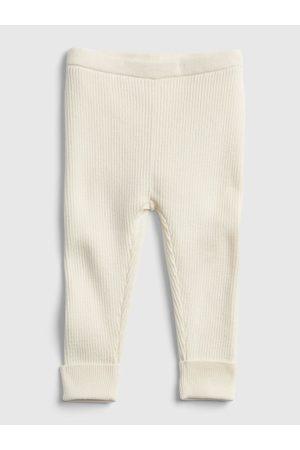 GAP Smetanové holčičí legíny ribbed sweater legging