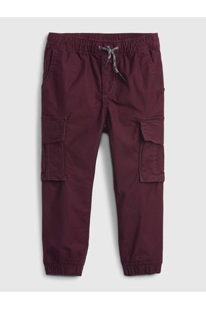 GAP Vínové klučičí kalhoty everyday cargo joggers