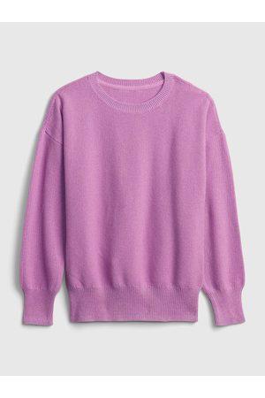 GAP Růžový holčičí svetr solid slouchy pullover