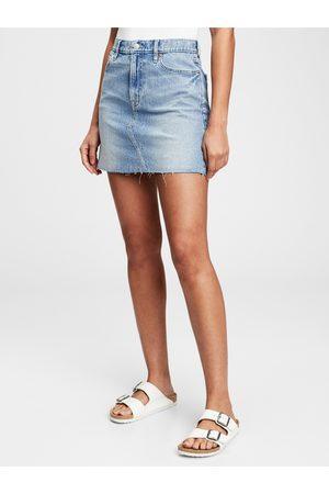 GAP Dámská sukně Džínová pocket mini skirts