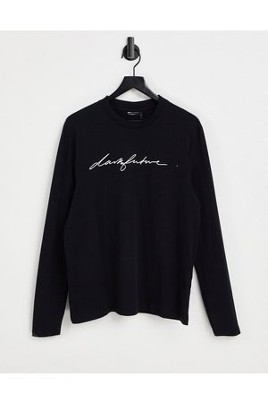 ASOS Dark Future Long sleeve t-shirt in black with chest logo print