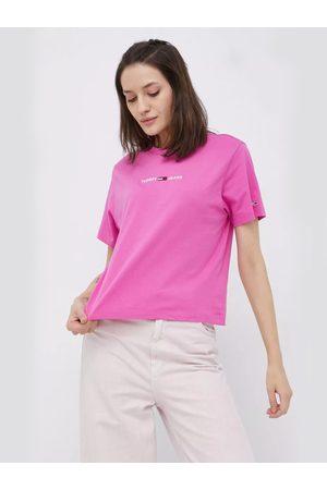 Tommy Jeans Ženy Trička - Dámské růžové triko