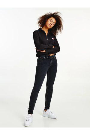 Tommy Jeans Ženy Kalhoty - Dámské tmavě šedé džíny NORA