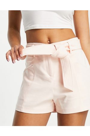 Morgan Ženy Pásky - Tailored short with belt in cream-White