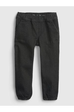 GAP Černé klučičí džíny džinsy black denim joggers