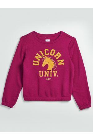 GAP Růžový holčičí svetr Unicorn