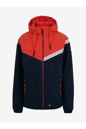 alife kickin Červeno-modrá pánská bunda