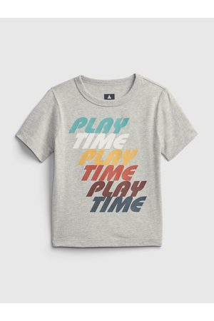 GAP Šedé klučičí tričko play time graphic t-shirt