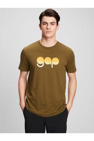 GAP Zelené pánské tričko Logo gradient t-shirt