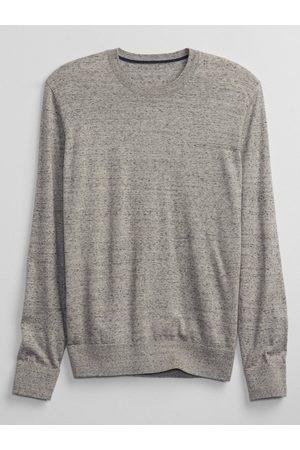 GAP Šedý pánský svetr everyday crewneck sweater