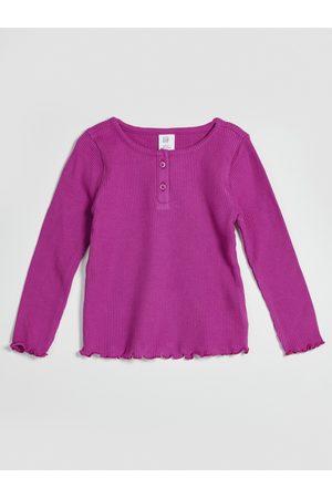 GAP Růžové holčičí tričko žebrované