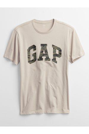 GAP Béžové pánské tričko Logo t-shirt