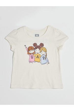 GAP Smetanové holčičí tričko s potiskem
