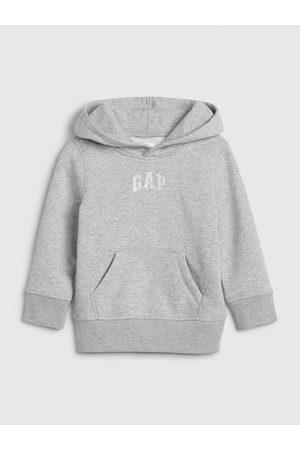 GAP Šedá klučičí mikina Logo hoodie sweatshirt