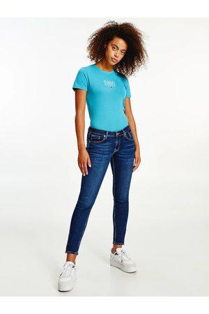 Tommy Jeans Ženy Kalhoty - Dámské tmavě modré džíny SCARLETT