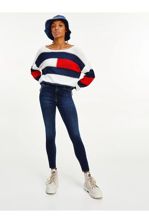 Tommy Jeans Ženy Kalhoty - Dámské tmavě modré džíny NORA