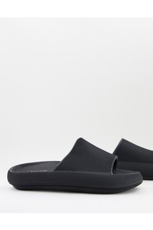 Truffle Collection Muži Sandály - Extra chunky sliders in black
