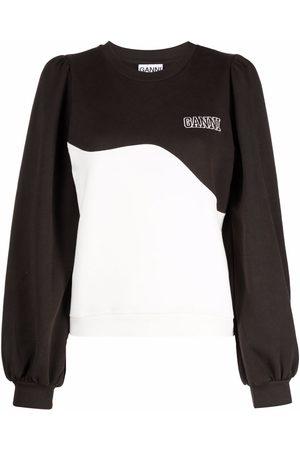 GANNI Wave panel logo sweatshirt