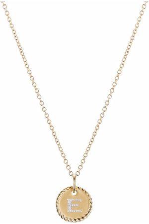 David Yurman Ženy Náhrdelníky - 18kt yellow gold Initial E diamond charm necklace
