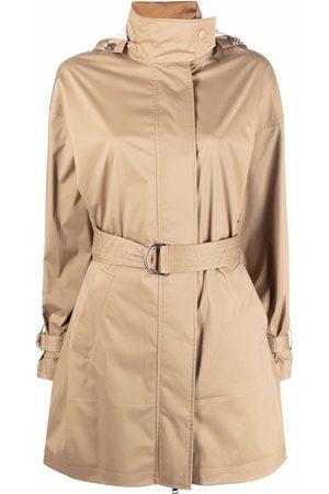 Moncler Crepide belted parka coat