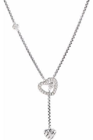 David Yurman Heart Y sterling silver and diamond necklace