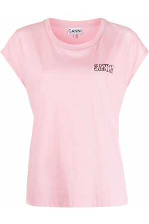 GANNI Logo-print short-sleeve T-shirt