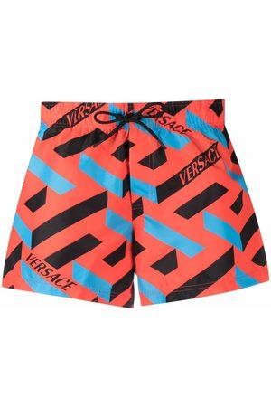 Versace Graphic-print swim shorts