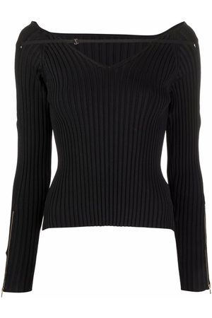 Jacquemus Oro zipped knitted top