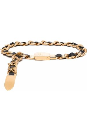 Balmain Leather chain belt